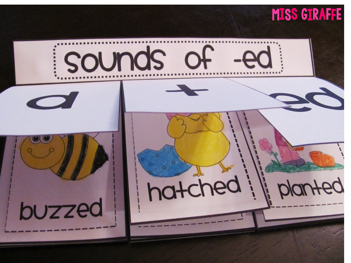 Miss giraffes class prefixes and suffixes teaching ideas for sounds of ed book where kids sort picture words into what sound ed makes robcynllc Gallery