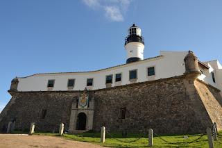entrada do farol e forte de Sto. Antonio da Barra, Salvador