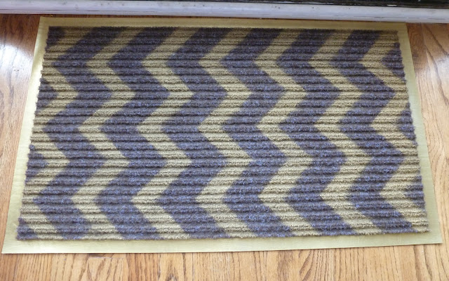 DIY Gold Chevron Rug