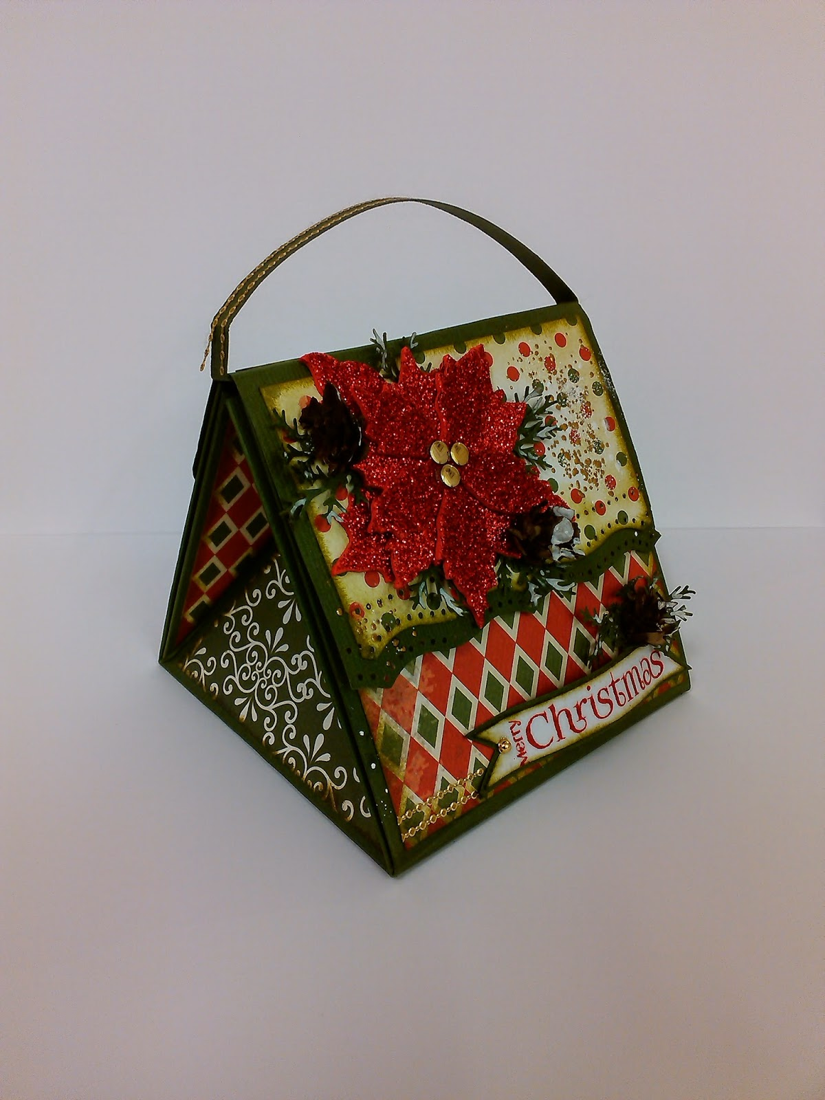 Crafts u love christmas mini card bag