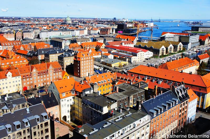View from Vor Frelsers Kirke Copenhagen Denmark