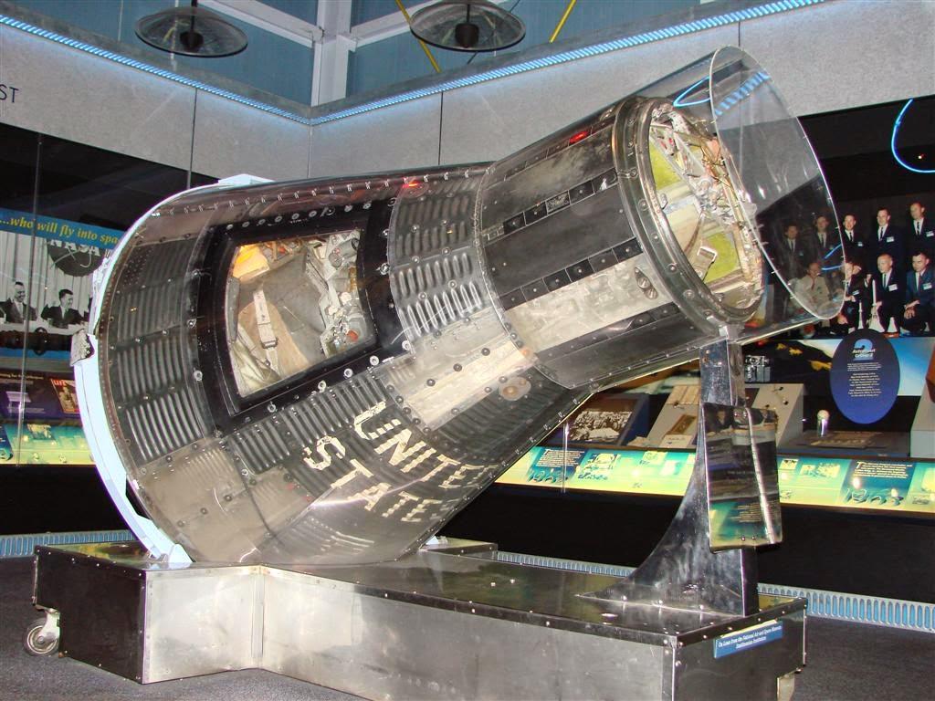 Sigma 7 de la misión Mercury 8 en el Hall of Fame de Florida