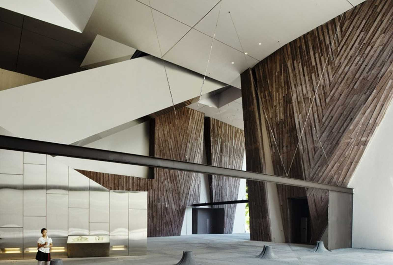 School of the arts by woha for Aik sing interior decoration contractor