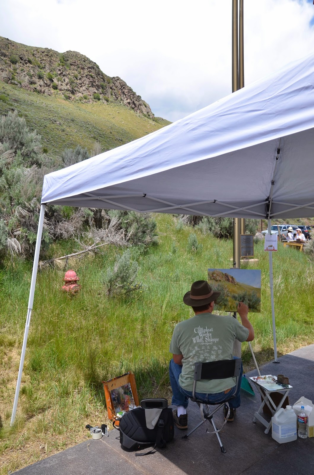 Oil Painter Richard Lance Russell at Plein Air Fest in Jackson Hole