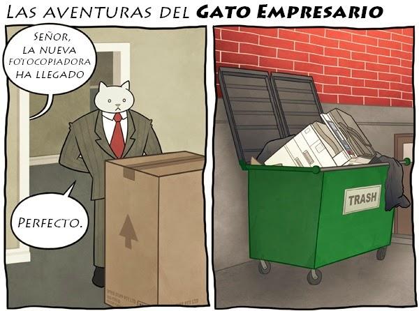Las aventuras del gato empresario - La nueva fotocopiadora