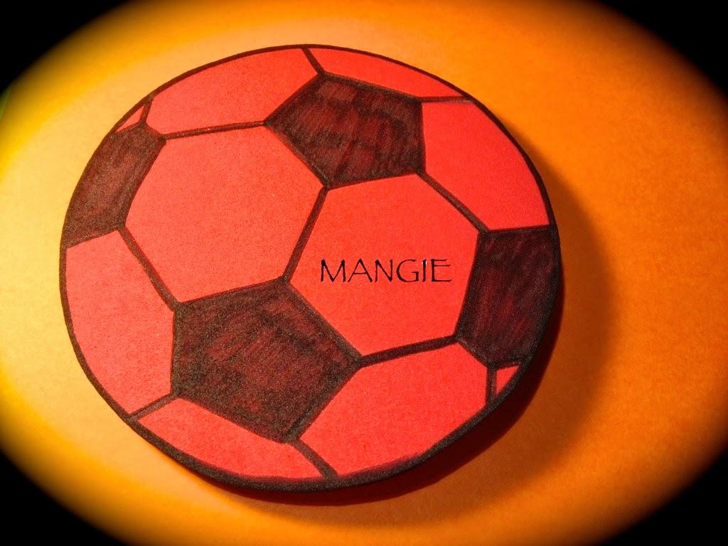 parte trasera balón fútbol
