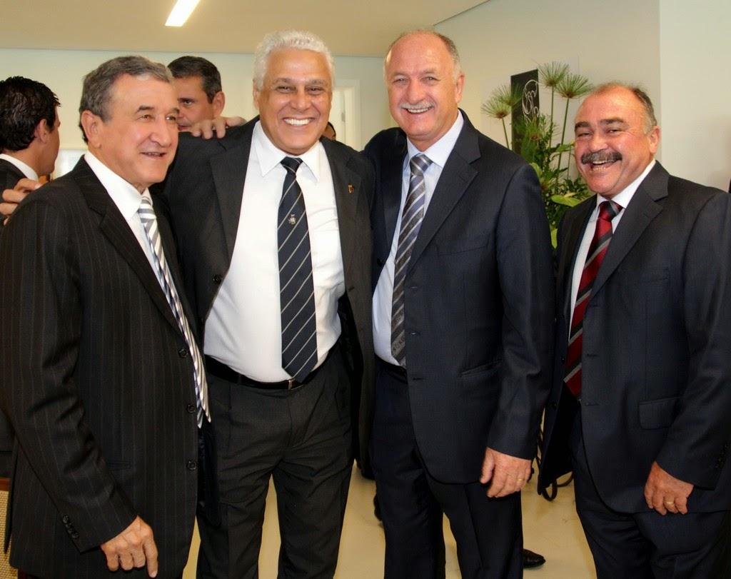 Na foto, Carlos Alberto Parreira, Roberto Dinamite, Felipão e Murtosa