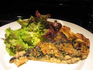 Red Chard Mushroom Tart Vegetarian