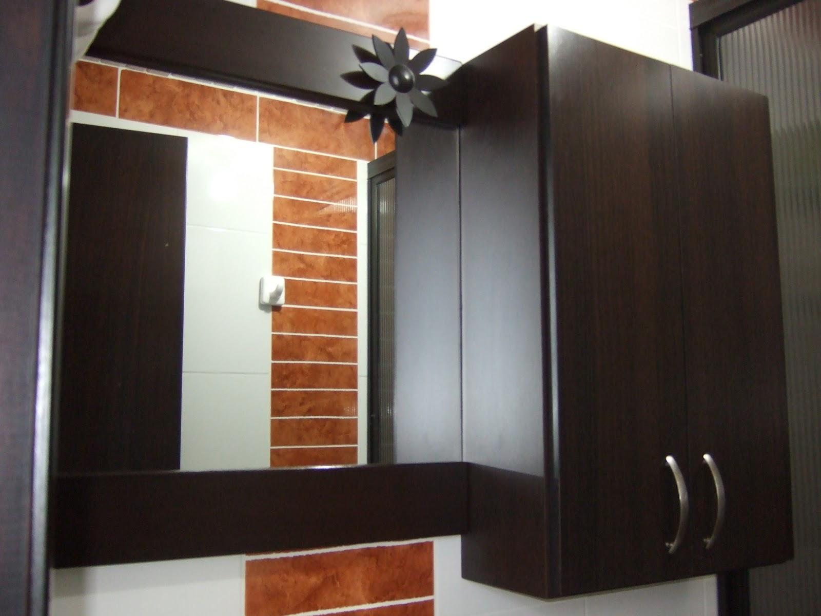 Gabinete Para Baño Madera:COCINAS INTEGRALES: ESPEJOS, MUEBLES DE BAÑO