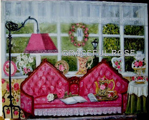 Oil Painting Pink Setee