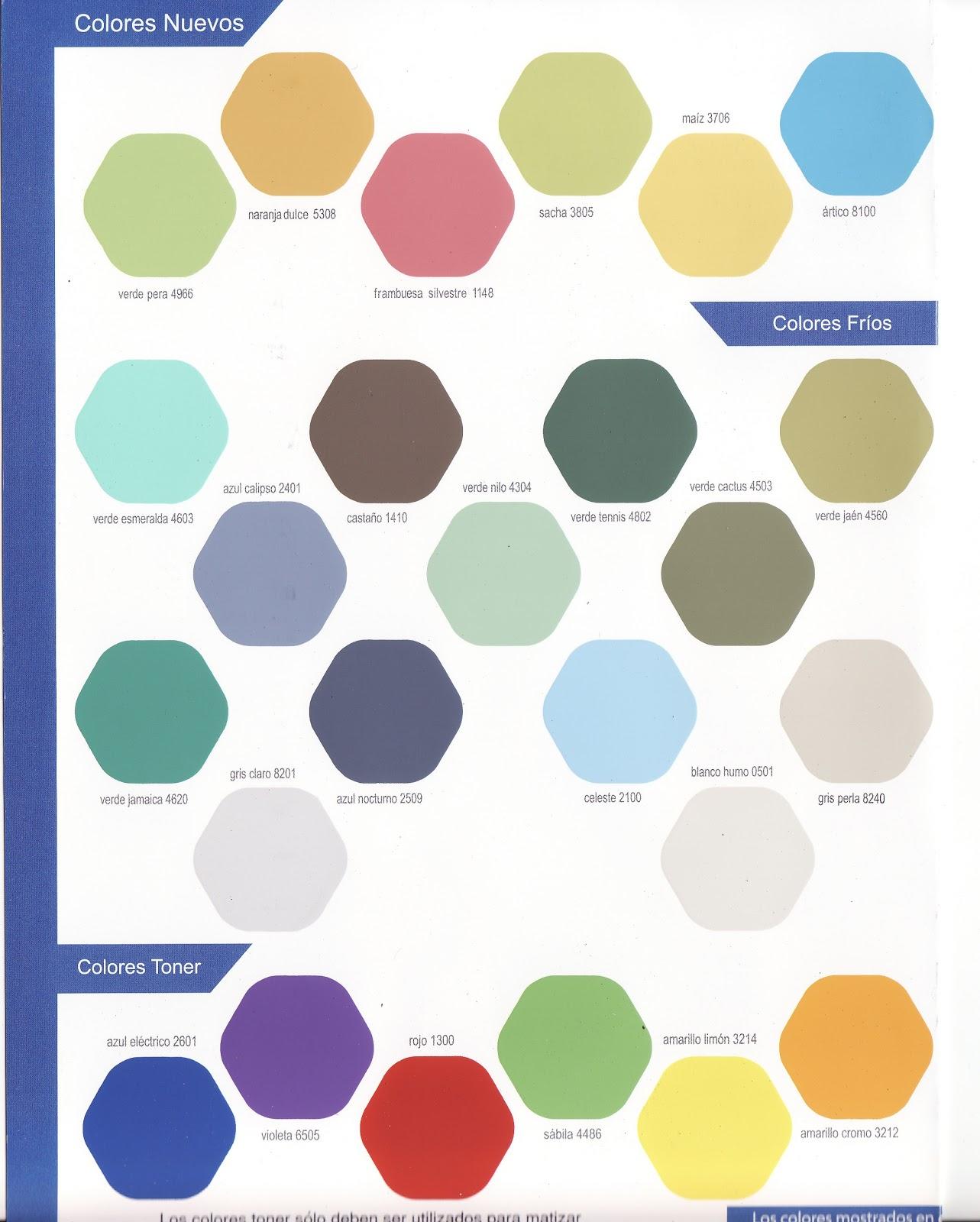 Todo pinturas industriales y decorativas carta colores for Catalogo de colores de pinturas