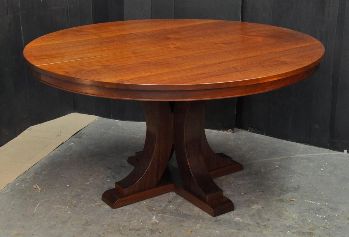 A Walnut Pedestal Table