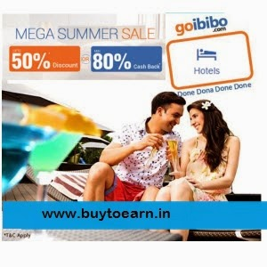 Hotels upto 50% Off or upto 105% Cashback at Goibibo : Buy To Earn