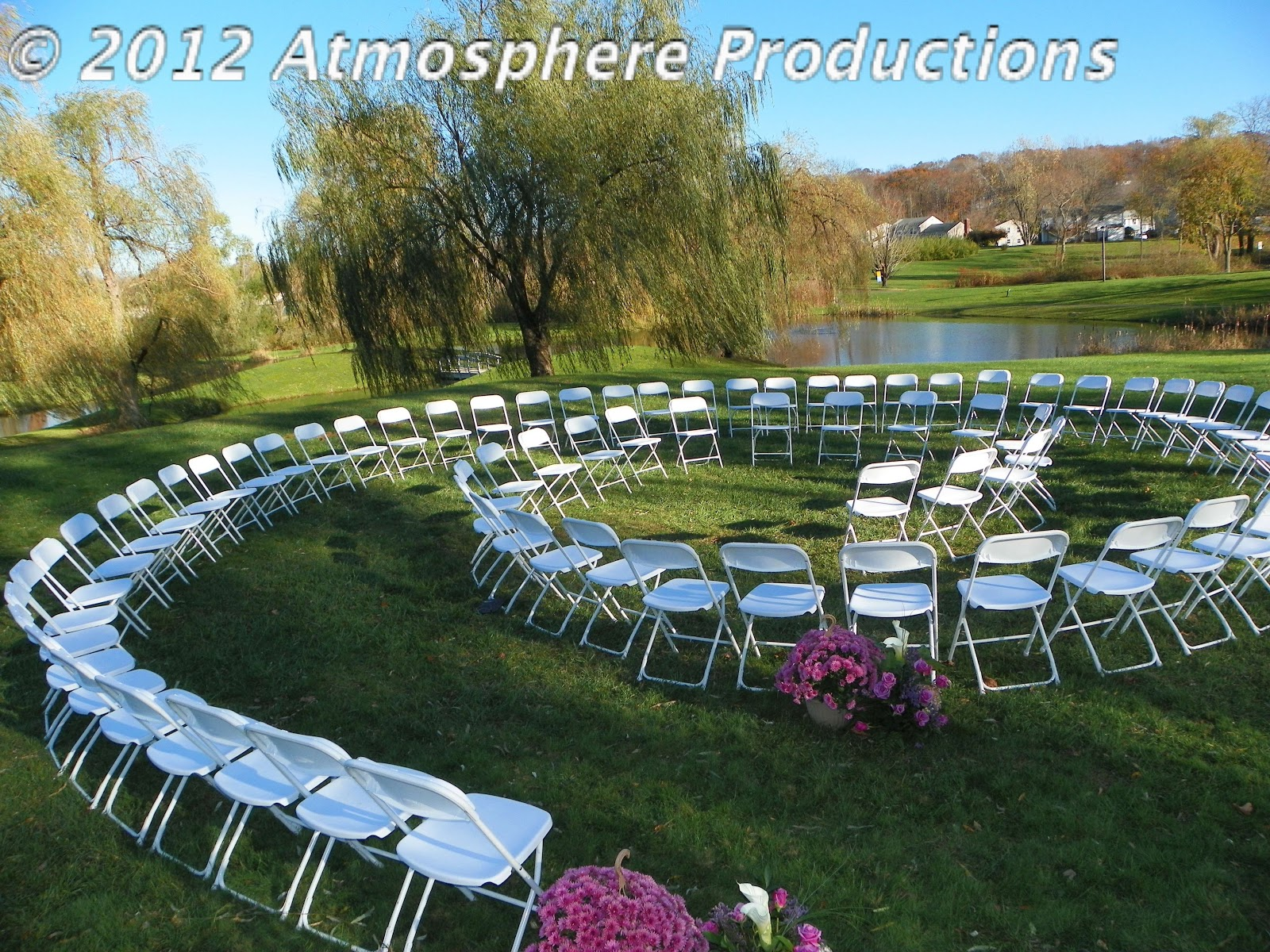 Spiral Seating Wedding Ceremony