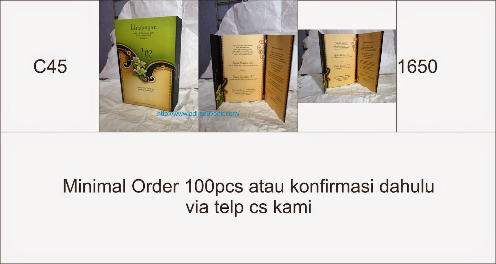 undangan kertas adi souvenir