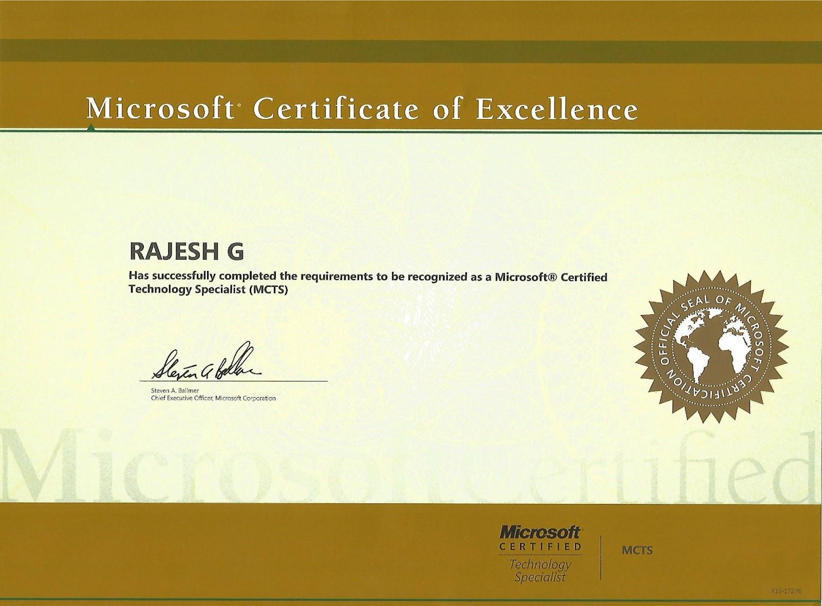 Dotnet Developer Blog Certifications