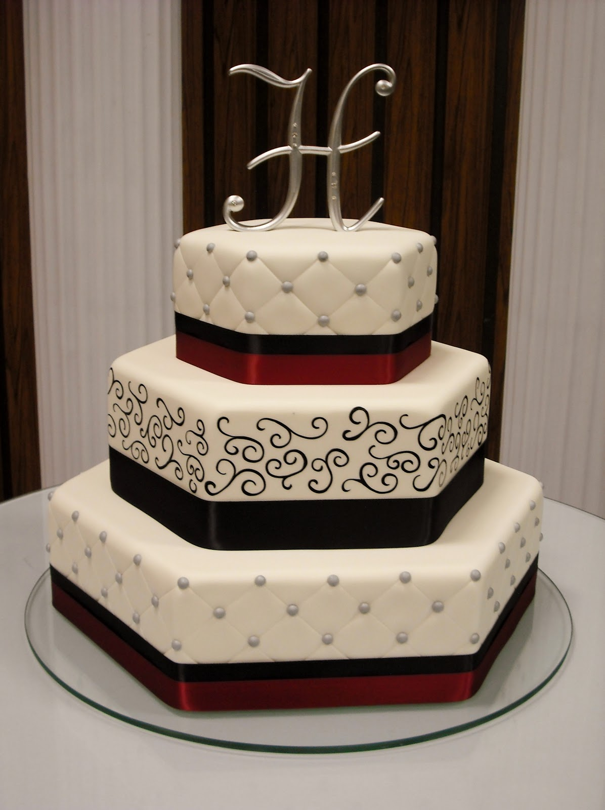 Hexagon Cake Servings