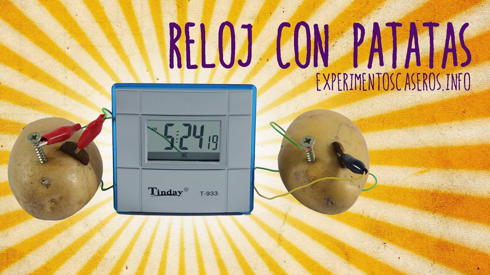 Reloj con patatas, reloj de patata, reloj que funciona con patatas, batería con frutas, reacción redox, oxidación reducción, explicación científica, ciencia, ciencia en casa, ciencia fácil, ciencia casera, experimentos caseros, experimentos sencillos, experimentos fáciles, experimentos para niños, experimentos caseros para niños, feria de ciencias