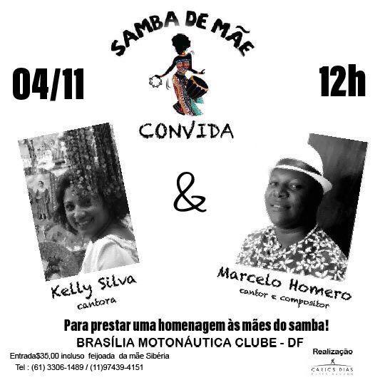 Participe do samba de mãe Brasília