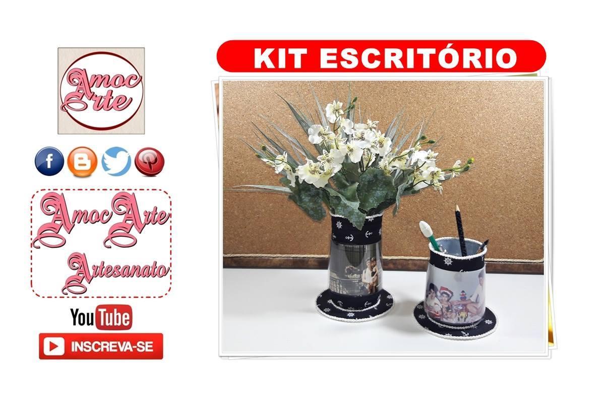 Diy - Kit escritório com garrafa de iogurte
