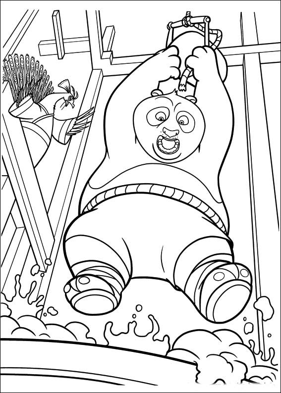 kung fu coloring pages - photo#28