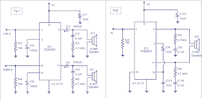 Stereo Audio Amplifier using TDA 2822