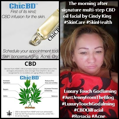 Signature Multistep CBD Oil Facial by Cindy King Luxury Touch Godalming