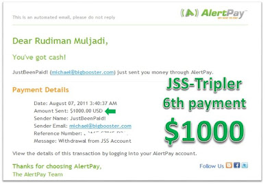 JSS Tripler witdraw (online bussiness not scam and still paying)