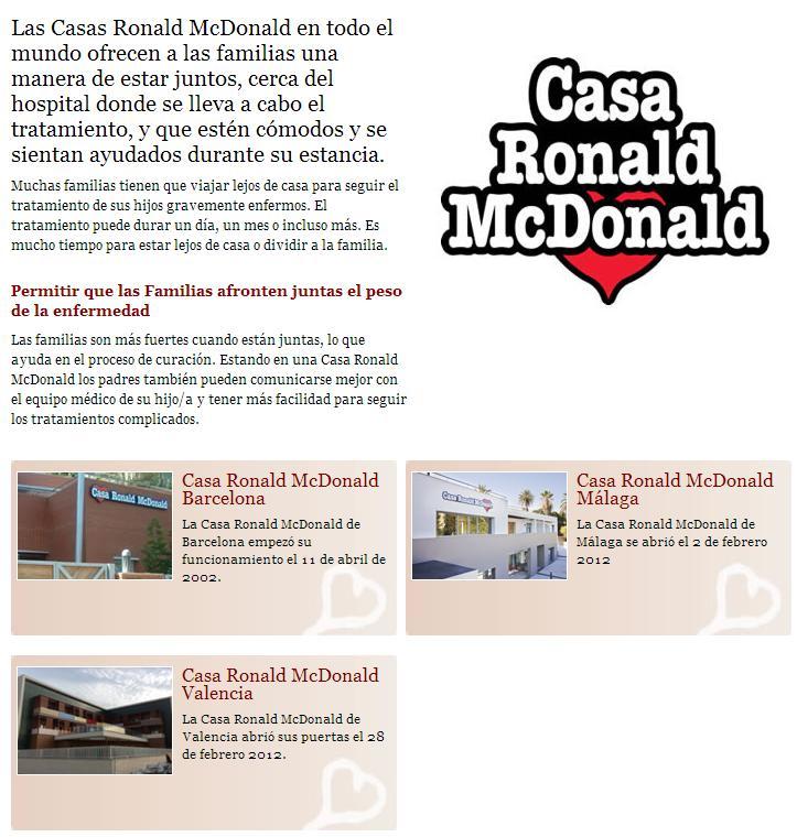 Fundaci n infantil ronald mcdonald sabias que - Casa ronald mcdonald valencia ...