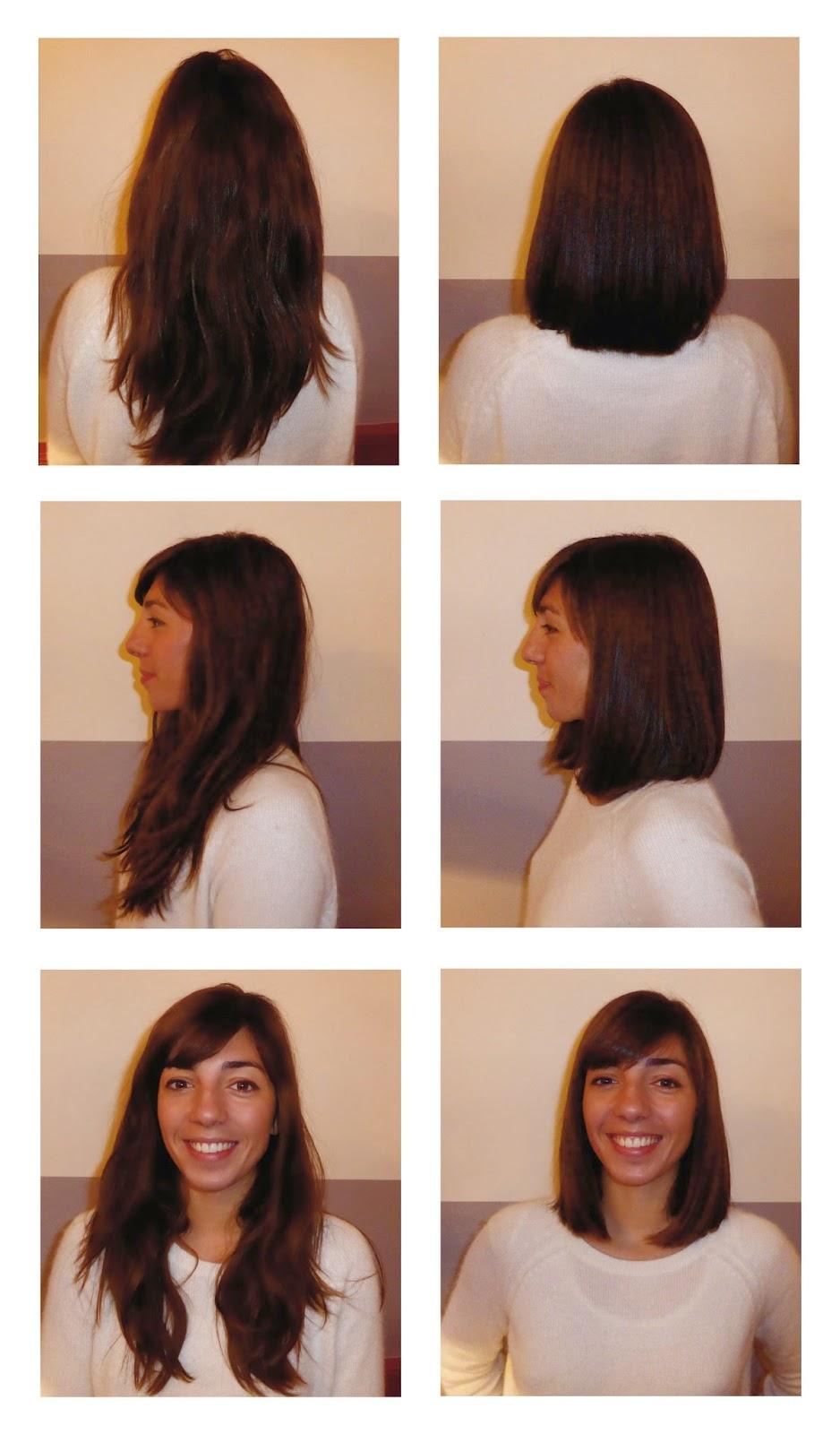 Léa, avant et après sa visite au Studio 54, coiffée par Eddy, coiffeur visagiste à Montpellier.