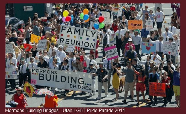Mormons Building Bridges in the Utah LGBT Gay Pride Parade 2014