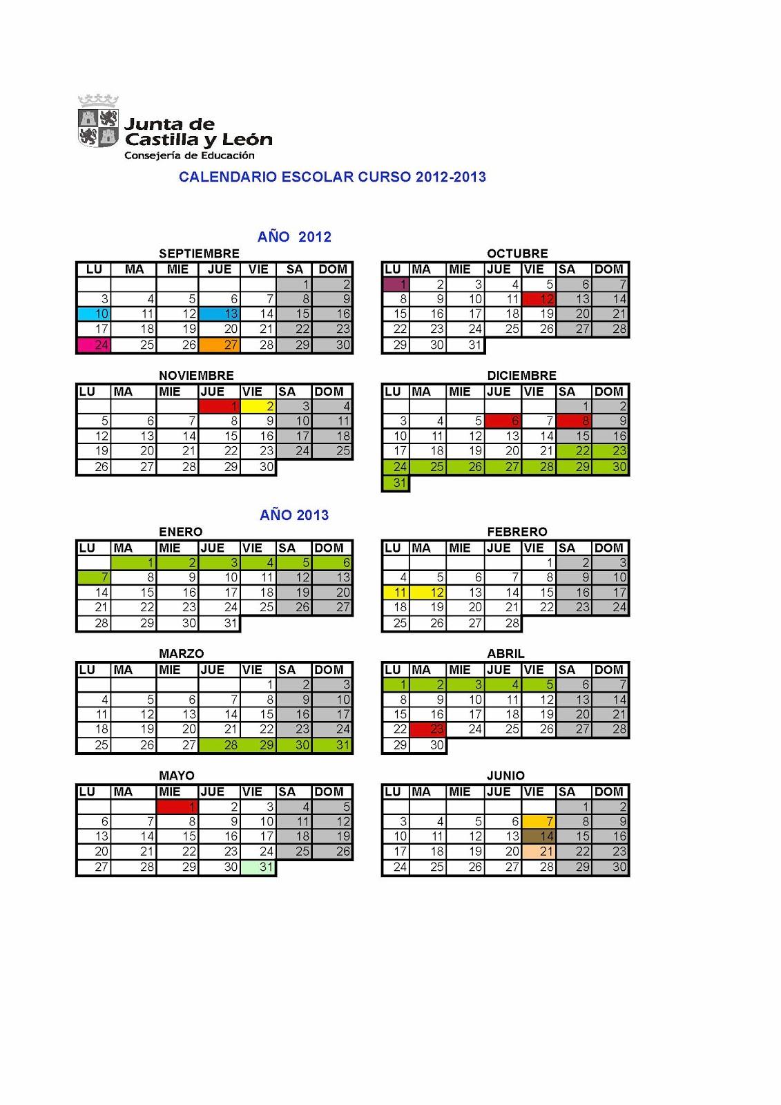 calendario escolar castilla y leon