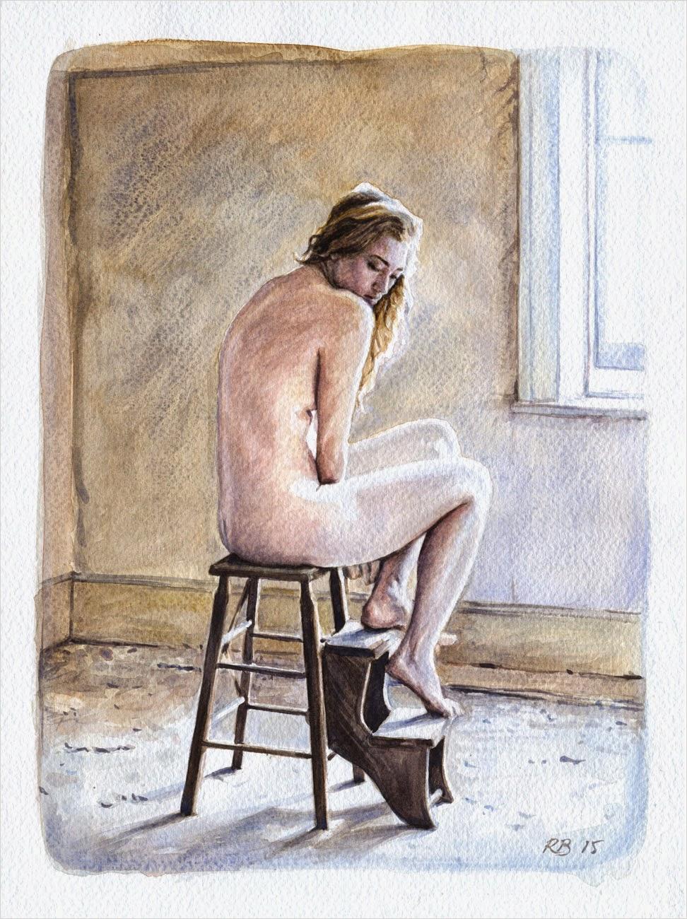 René Bui - Etude de nu à l'aquarelle 150114 - 2015