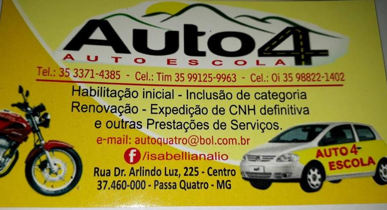 AUTO ESCOLA AUTO 4 DE PASSA QUATRO, SUCESSO TOTAL