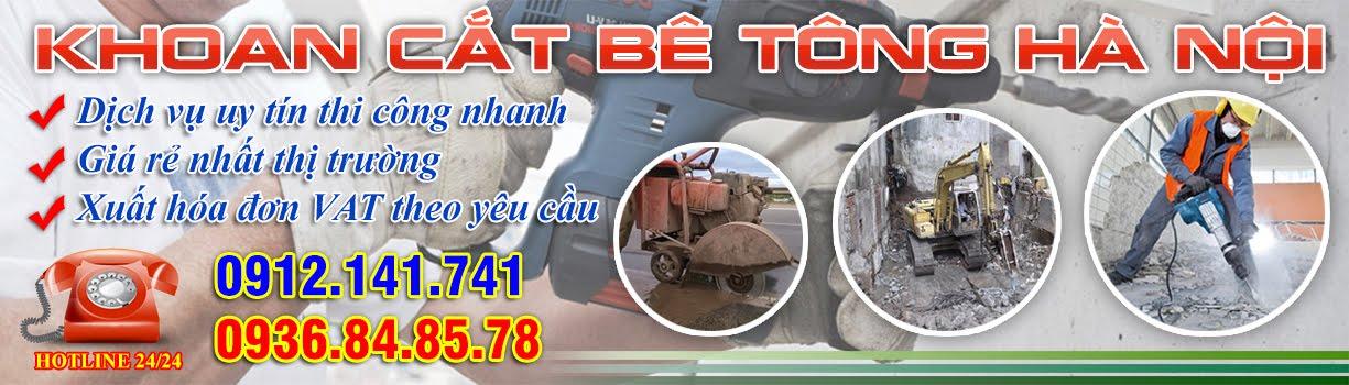 Khoan rút lõi bê tông Hà Nội chuyên nghiệp: 0912.141.741