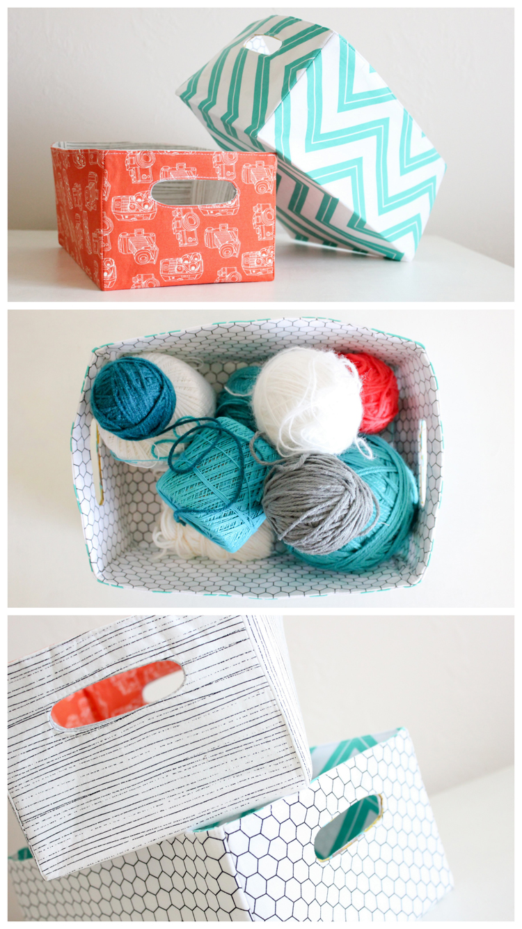 How to Make Fabric Baskets by Delia Creates