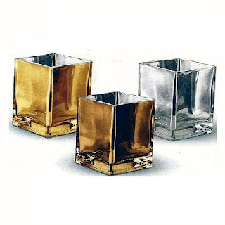 New! Mirrored Glass Cubes in Metallic Colors