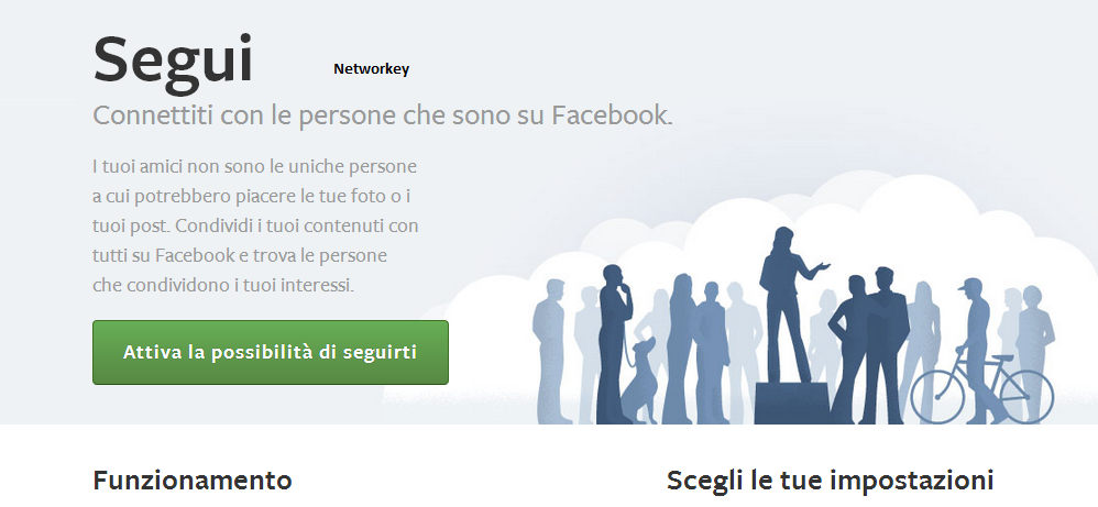 tasto segui facebook