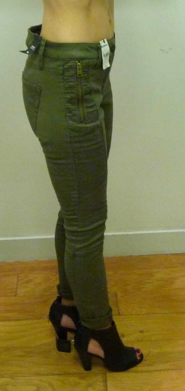 Express sateen trapunto leggings, jeans, moto, pants, cargo, olive, runway side cut out booties