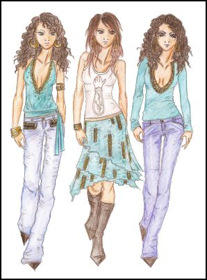 fashion designers drawings