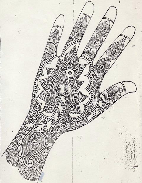 Mehndi For Right Hand Back Side : My maharashtra bridal mehndi design for the right hand