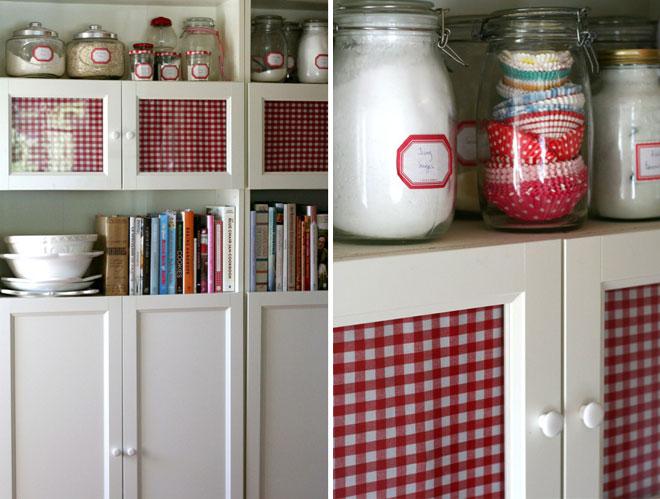 Cosas de palmichula cubrir el cristal de un armario con for Cuadros cocina ikea