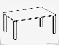 Gambar Meja Sederhana Untuk Mewarnai