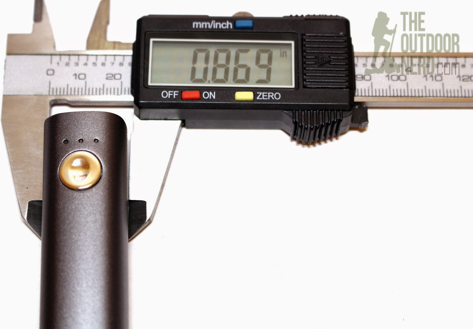 Intocircuit 3000 mAh USB Power Bank: Caliper Measurement
