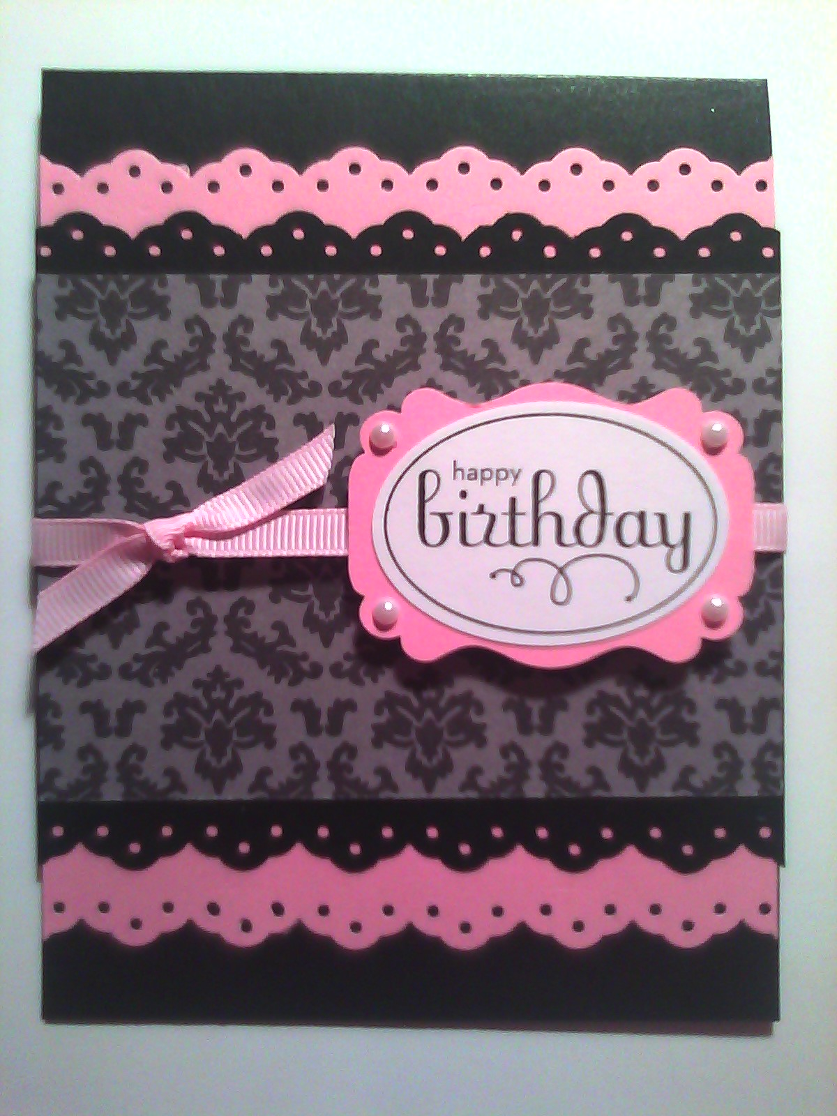 How to scrapbook greeting cards - Sistochris Scrapbooking And Paper Crafts Handmade Stamped Greeting Card Feminine Birthday