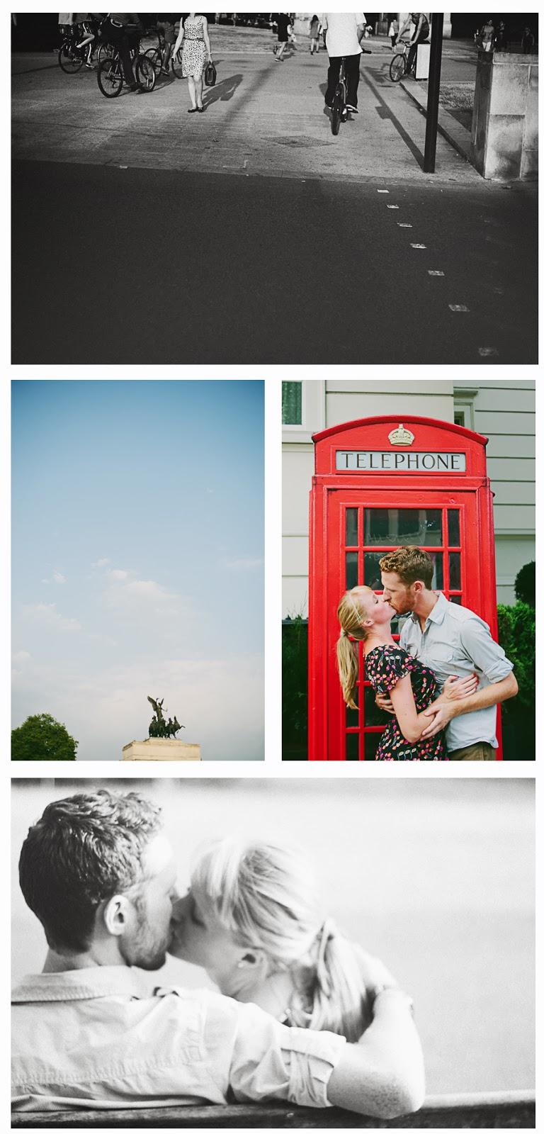 London engagement session red phone box alternative wedding photographer