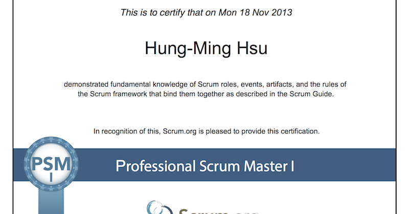 Suggestions To Pass The Professional Scrum Master I Psm I