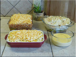 casseroles ready for the oven