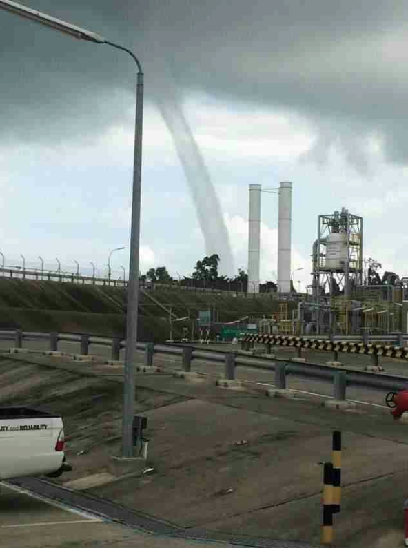 Kisah sebenar mengenai fenomena belalai air yang berlaku di Bintulu