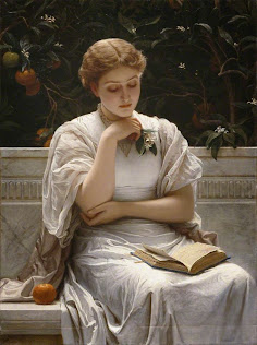 Libros... imposible resistirse... (Charles Edward Perugini)